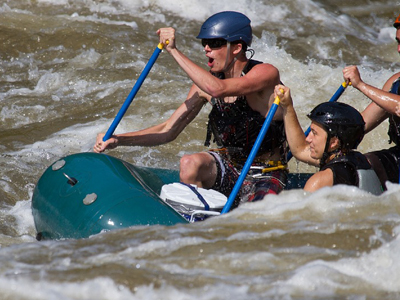White water rafting attraction in Maggie Valley