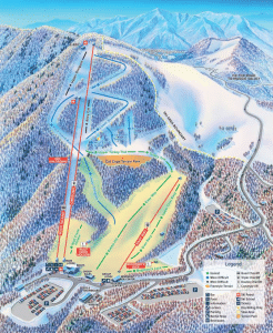 Cataloochee Ski Area - Trail Map for Maggie Valley Skiing